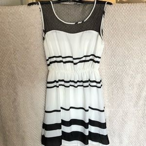 Charlotte Russe White and Black Dress